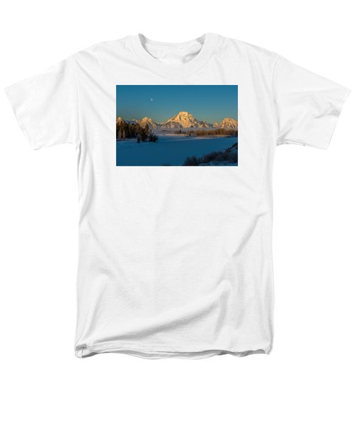 Oxbow Bend In Late Winter Men's T-Shirt  (Regular Fit) by Yeates Photography