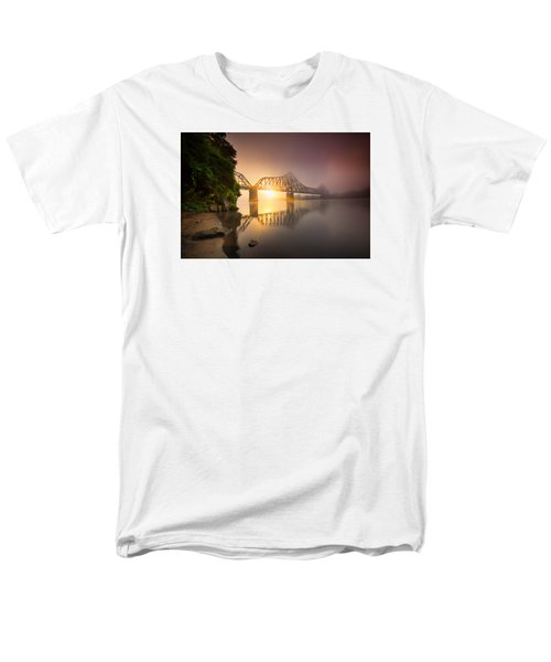 P And Le Ohio River Railroad Bridge Men's T-Shirt  (Regular Fit) by Emmanuel Panagiotakis