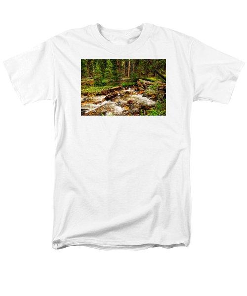 Pahsimeroi Cascades Men's T-Shirt  (Regular Fit) by Greg Norrell