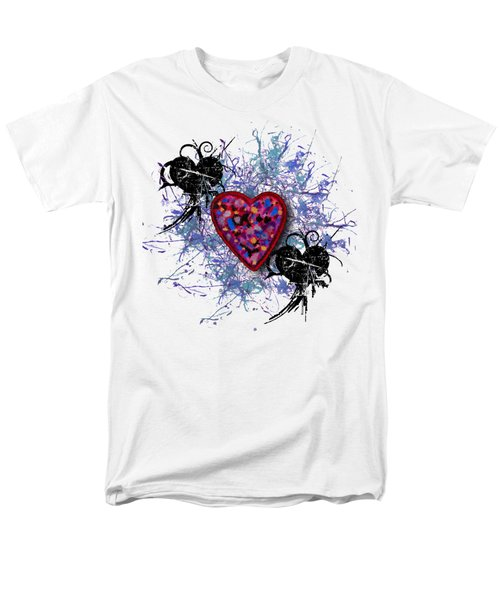 Men's T-Shirt  (Regular Fit) featuring the digital art Painted Heart 3 by Christine Perry