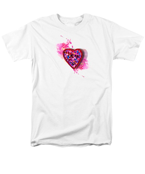 Men's T-Shirt  (Regular Fit) featuring the digital art Painted Heart by Christine Perry