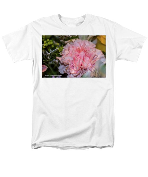 Pale Pink Carnation Men's T-Shirt  (Regular Fit) by Nance Larson