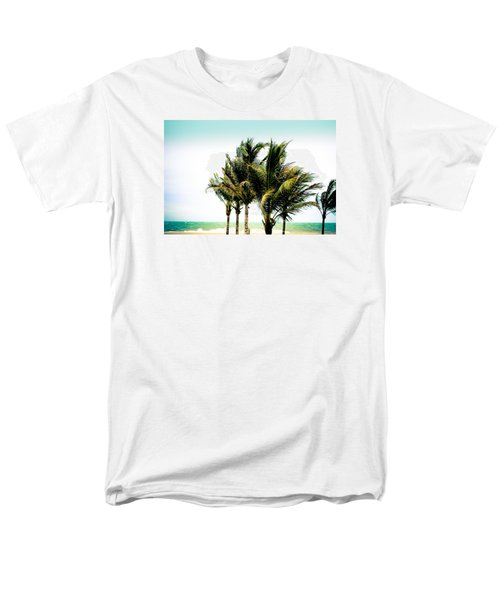 Men's T-Shirt  (Regular Fit) featuring the photograph Palm Trees Ocean Breeze by Colleen Kammerer
