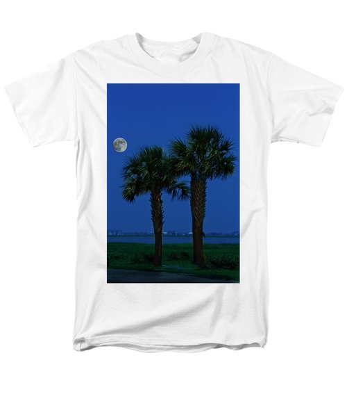 Palms And Moon At Morse Park Men's T-Shirt  (Regular Fit) by Bill Barber