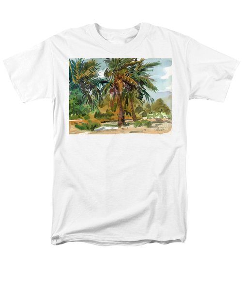Palms In Key West Men's T-Shirt  (Regular Fit) by Donald Maier