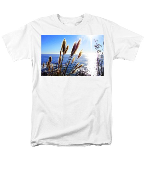 Pampas Grass And The Pacific 2 Men's T-Shirt  (Regular Fit)