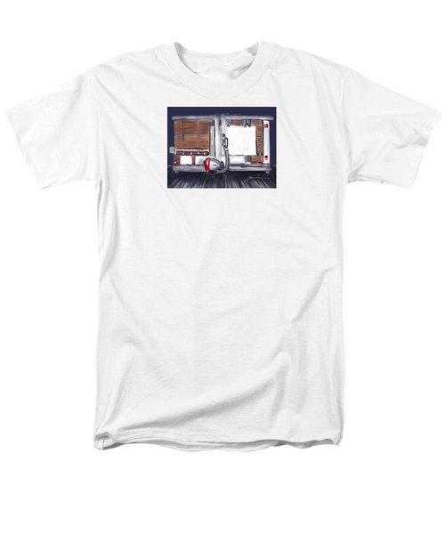 Men's T-Shirt  (Regular Fit) featuring the painting Panel Saw by Jean Pacheco Ravinski