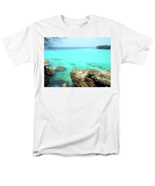 Men's T-Shirt  (Regular Fit) featuring the photograph Paradise Island, Curacao by Kurt Van Wagner