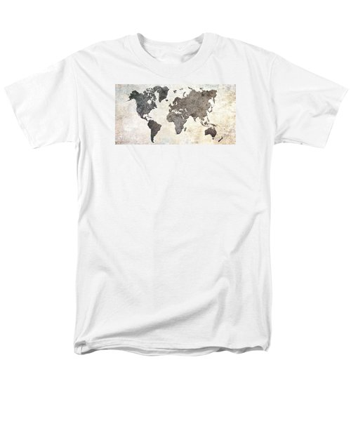 Parchment World Map Men's T-Shirt  (Regular Fit) by Douglas Pittman