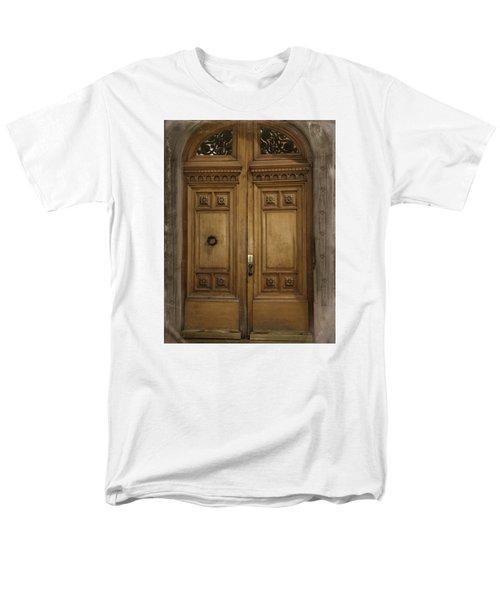 Men's T-Shirt  (Regular Fit) featuring the photograph Paris Doorway by Katie Wing Vigil