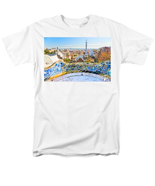 Men's T-Shirt  (Regular Fit) featuring the photograph Park Guell Barcelona by Luciano Mortula