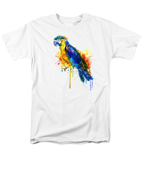 Parrot Watercolor  Men's T-Shirt  (Regular Fit) by Marian Voicu