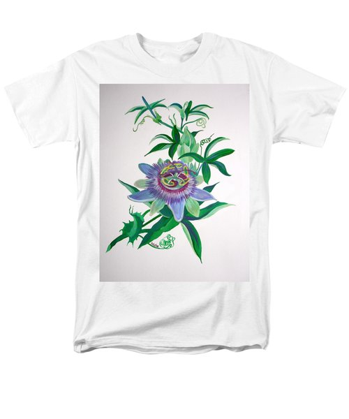 Passion Flower Men's T-Shirt  (Regular Fit) by Tracey Harrington-Simpson