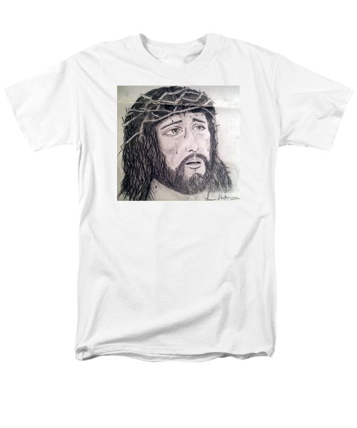 Men's T-Shirt  (Regular Fit) featuring the painting Passion Of Christ by Brindha Naveen