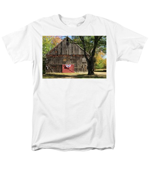 Patriotic Barn Men's T-Shirt  (Regular Fit) by Nancy De Flon