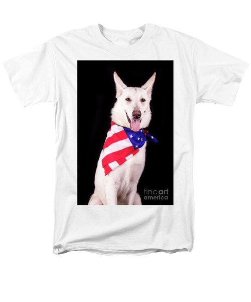 Patriotic Dog Men's T-Shirt  (Regular Fit) by Stephanie Hayes