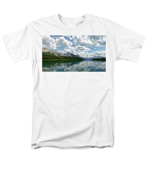 Men's T-Shirt  (Regular Fit) featuring the photograph Peaceful Maligne Lake by Sebastien Coursol