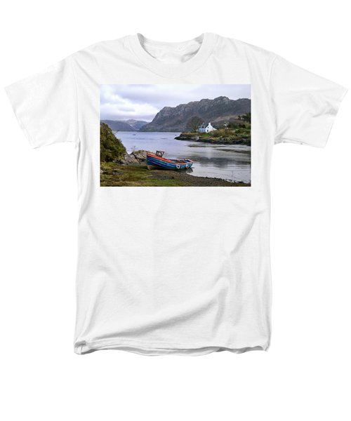 Peaceful Plockton Men's T-Shirt  (Regular Fit) by Jacqi Elmslie
