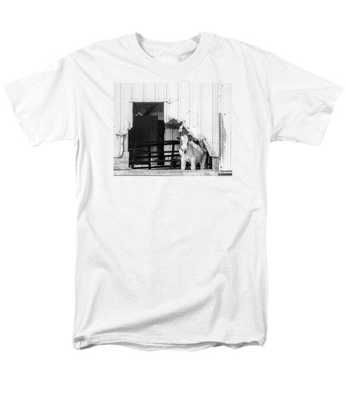 Men's T-Shirt  (Regular Fit) featuring the photograph Peak-a-boo Calf by Dan Traun
