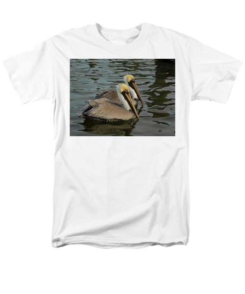 Men's T-Shirt  (Regular Fit) featuring the photograph Pelican Duo by Jean Noren