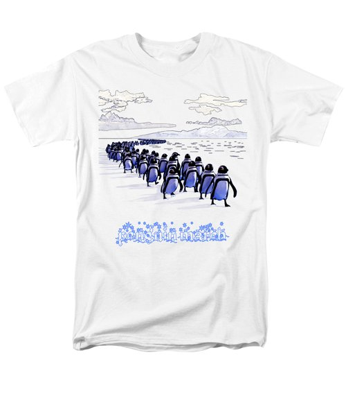 Penguin March Men's T-Shirt  (Regular Fit) by Methune Hively