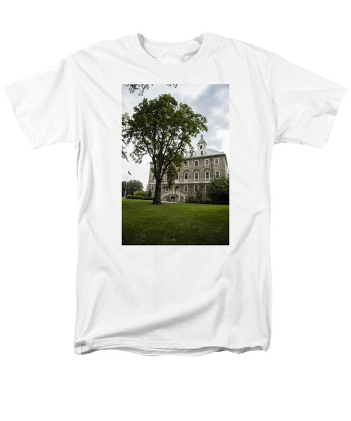 Penn State Old Main From Side  Men's T-Shirt  (Regular Fit) by John McGraw