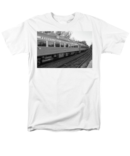 Pennsylvania Reading Seashore Lines Train Men's T-Shirt  (Regular Fit) by Terry DeLuco