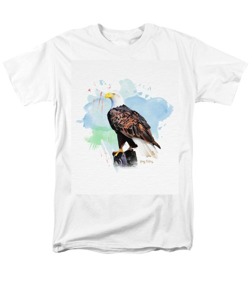 Men's T-Shirt  (Regular Fit) featuring the painting Perched Eagle by Greg Collins