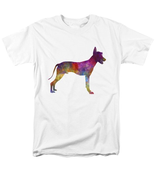 Peruvian Hairless Dog In Watercolor Men's T-Shirt  (Regular Fit) by Pablo Romero