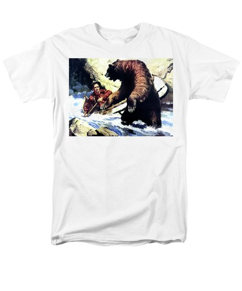 Men's T-Shirt  (Regular Fit) featuring the painting Pg- Dangerous Waters by JQ Licensing