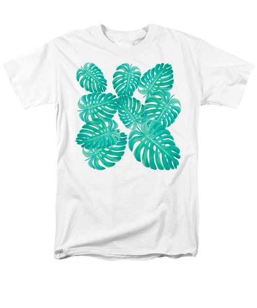 Philodendron Leaves Men's T-Shirt  (Regular Fit) by Jan Matson