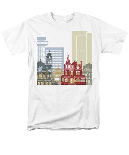 Phoenix Skyline Poster Men's T-Shirt  (Regular Fit) by Pablo Romero