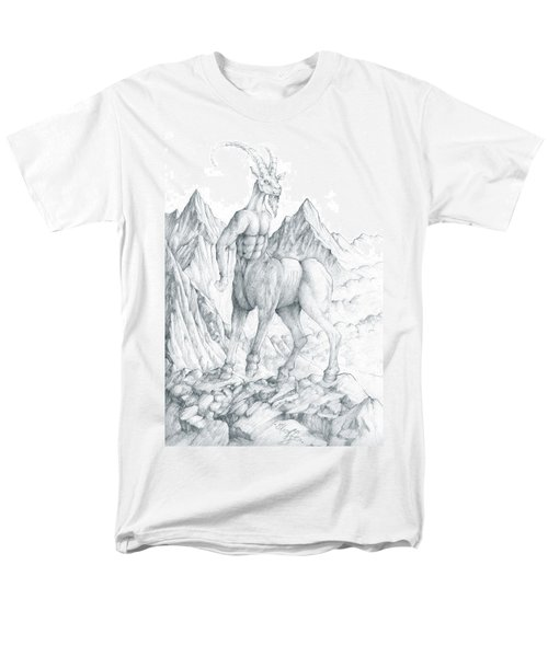 Men's T-Shirt  (Regular Fit) featuring the drawing Pholus The Centauras by Curtiss Shaffer