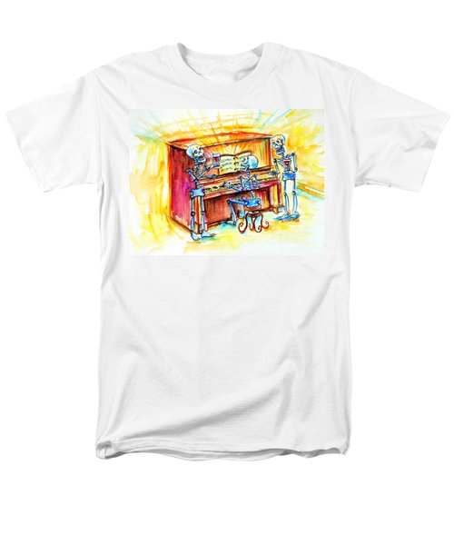 Piano Man Men's T-Shirt  (Regular Fit) by Heather Calderon