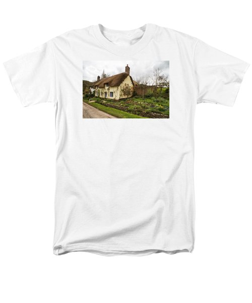 Men's T-Shirt  (Regular Fit) featuring the photograph Picturesque Dunster Cottage by Shirley Mitchell