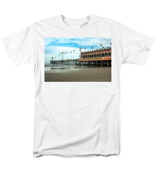 Pier Daytona Beach Men's T-Shirt  (Regular Fit) by Carolyn Marshall