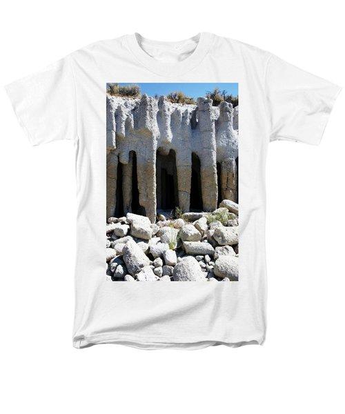 Pillars At Crowley Lake Men's T-Shirt  (Regular Fit) by Michael Courtney