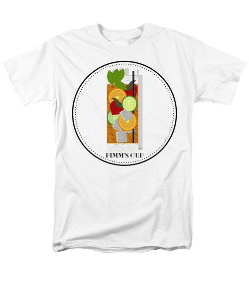 Pimm's Cup Cocktail In Art Deco  Men's T-Shirt  (Regular Fit) by Cecely Bloom