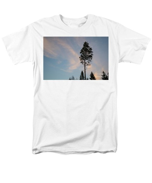 Pine Tree Silhouette Men's T-Shirt  (Regular Fit) by Kennerth and Birgitta Kullman