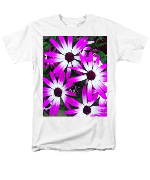 Pink And White Flowers Men's T-Shirt  (Regular Fit) by Vizual Studio
