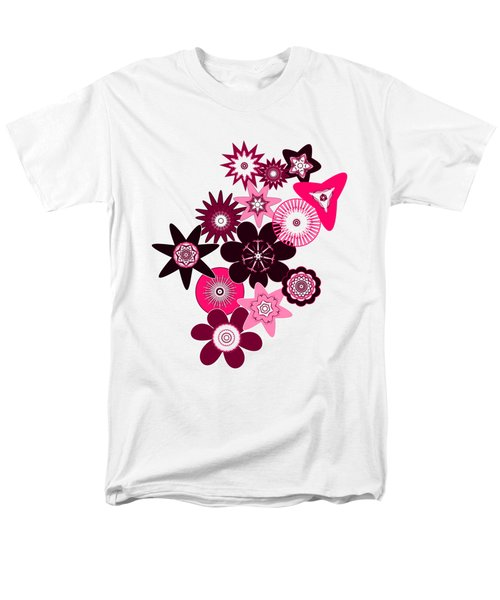 Pink Funky Flowers Men's T-Shirt  (Regular Fit) by Methune Hively