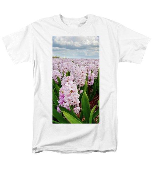 Pink Hyacinth  Men's T-Shirt  (Regular Fit) by Mihaela Pater