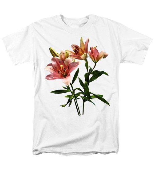 Pink Lily Trio Men's T-Shirt  (Regular Fit) by Susan Savad