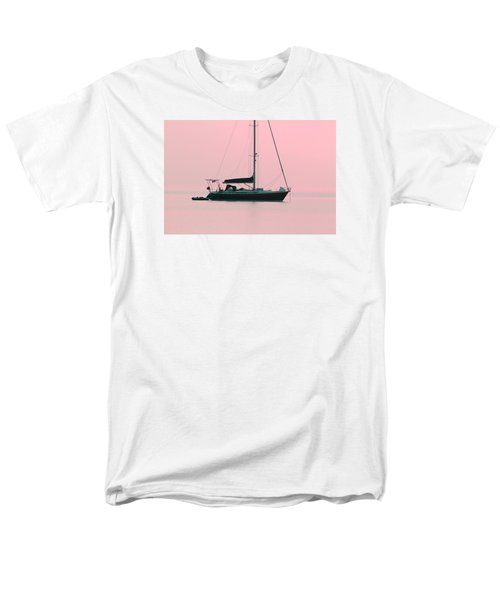 Men's T-Shirt  (Regular Fit) featuring the photograph Pink Mediterranean by Richard Patmore