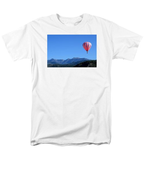 Pink On Blue Men's T-Shirt  (Regular Fit) by Kevin Munro