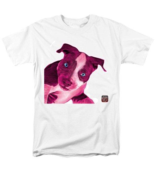 Pink Pitbull Dog Art 7435 - Wb Men's T-Shirt  (Regular Fit) by James Ahn