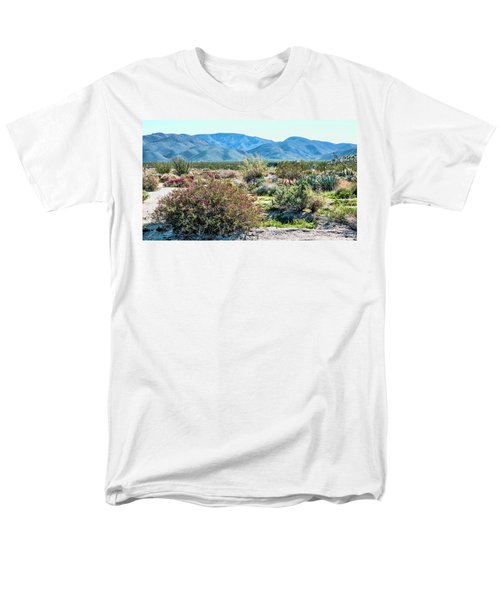 Pinyon Mtns Desert View Men's T-Shirt  (Regular Fit) by Daniel Hebard
