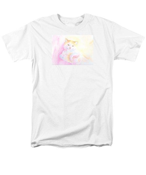 Playful Cat I Men's T-Shirt  (Regular Fit) by Elizabeth Lock