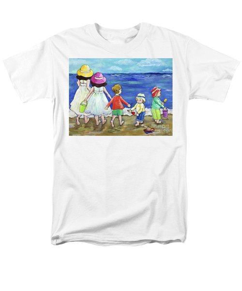 Playing At The Seashore Men's T-Shirt  (Regular Fit) by Rosemary Aubut