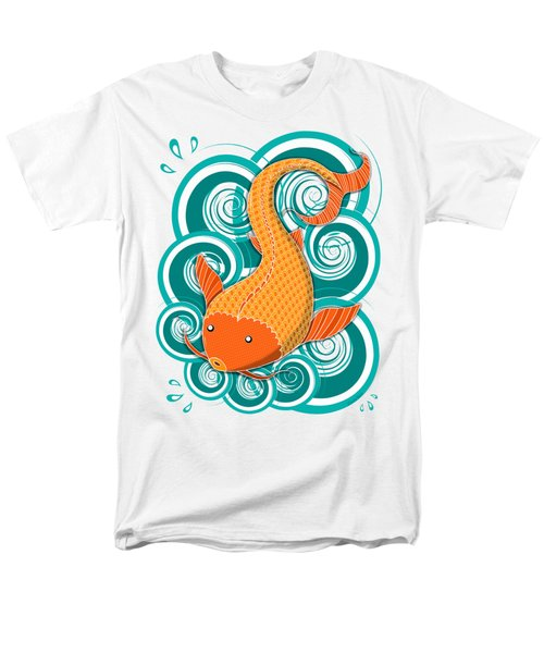 Playing Koi Men's T-Shirt  (Regular Fit) by Shawna Rowe